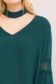 Entro V Neck Choker-Top - Front full body
