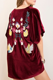 Entro Velvet Embroidered Kimono - Product Mini Image