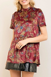Entro Velvet Floral Top - Product Mini Image