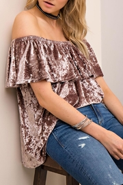 Entro Velvet Off-The-Should Top - Side cropped