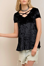 Entro Velvet Swing Top - Front cropped