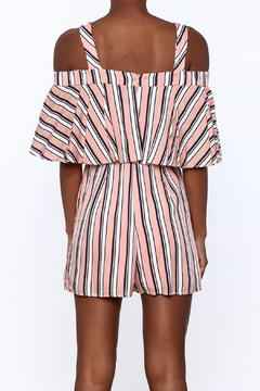 Entro Peach Stripe Print Romper - Alternate List Image
