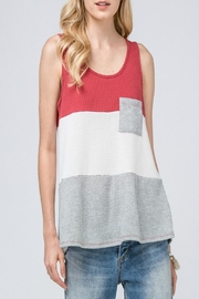 Entro Waffle-Knit Color-Block Top - Product Mini Image