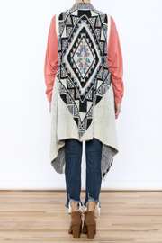 Entro Tribal Waterfall Vest - Back cropped