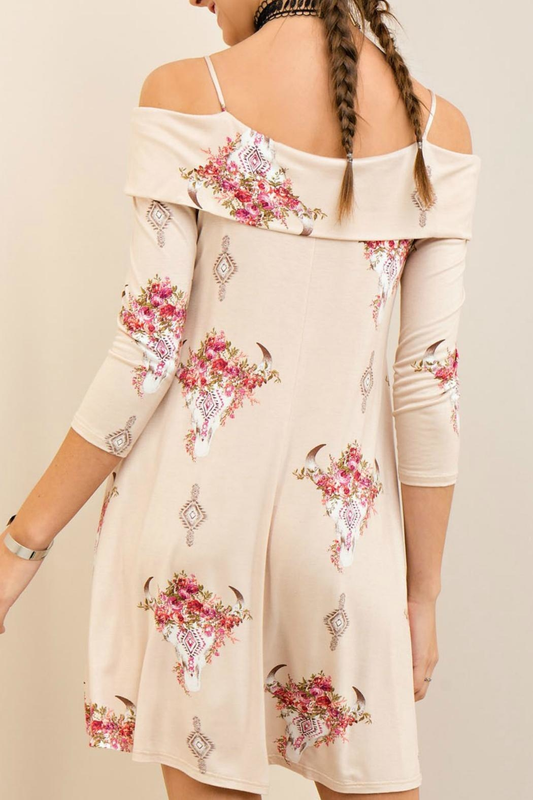 Entro Western Floral Dress - Front Full Image
