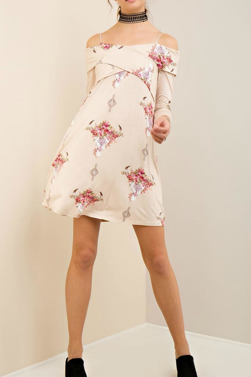 Entro Western Floral Dress - Front Cropped Image