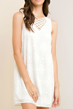 Shoptiques Product: White Crisscross Dress