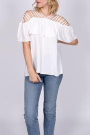 Entro White Cutout Top - Product Mini Image