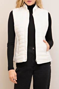 Entro White Quilted Vest - Product List Image