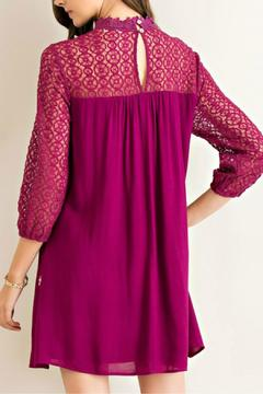 Shoptiques Product: Wine Embroidered Dress