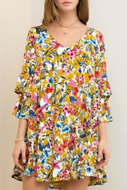 Entro Yellow Floral Dress - Product Mini Image