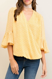 Entro Yellow Pattern Top - Product Mini Image