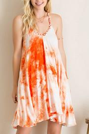 Entro Tie Dye V Neck Dress - Product Mini Image