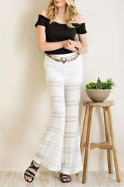 Entro Lace Bell Bottom Pants - Product Mini Image