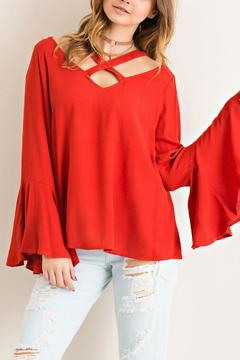 Shoptiques Product: Wide V-Neck Blouse