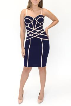 ENTRY Contrast Piping Dress - Product List Image