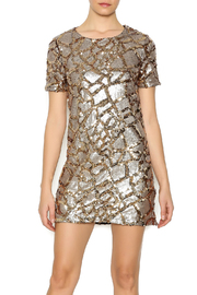ENTRY Gold Sequin Dress - Front cropped