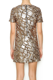 ENTRY Gold Sequin Dress - Back cropped