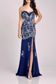 Shoptiques Product: Strapless Beaded Gown