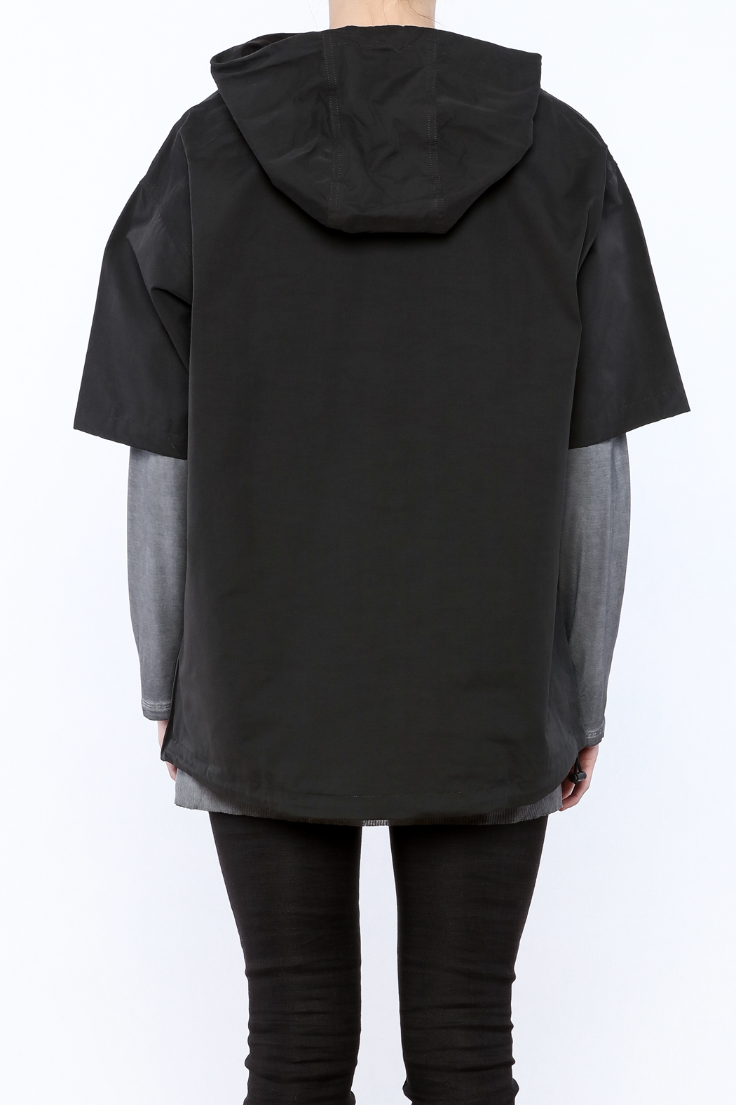 Epidemic Cowl Neck Popover - Back Cropped Image
