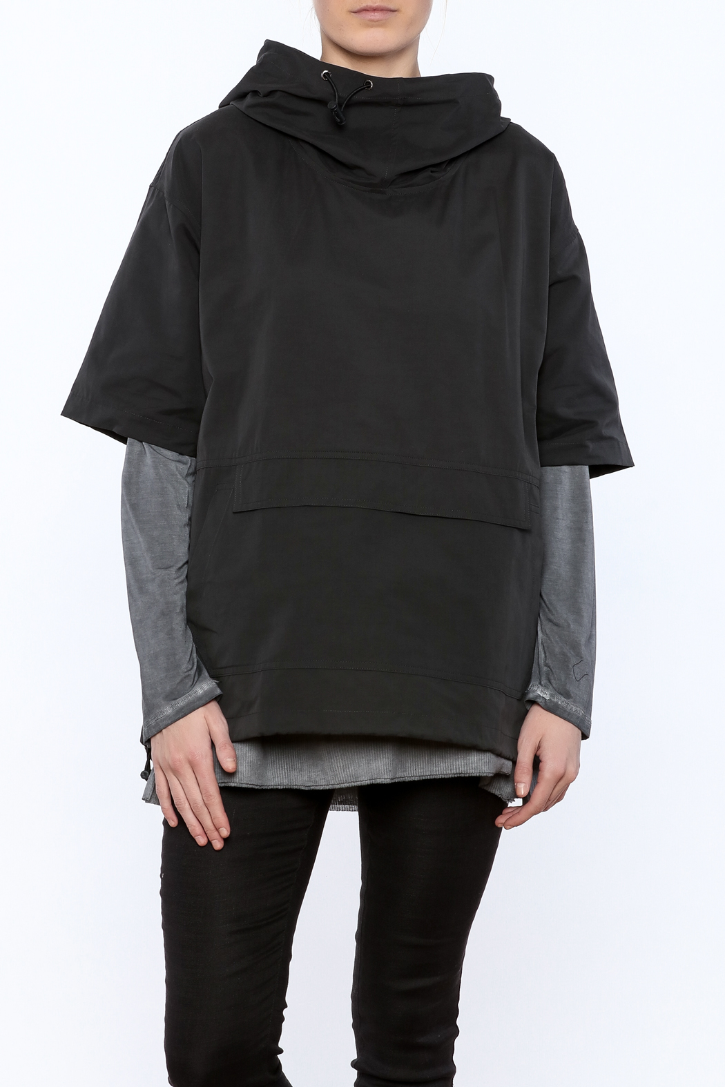 Epidemic Cowl Neck Popover - Front Cropped Image