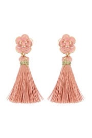 Riah Fashion Epoxy-With-Tassel Post-Earrings - Product Mini Image