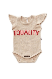 Oeuf Equality Ruffle Onesie - Front cropped