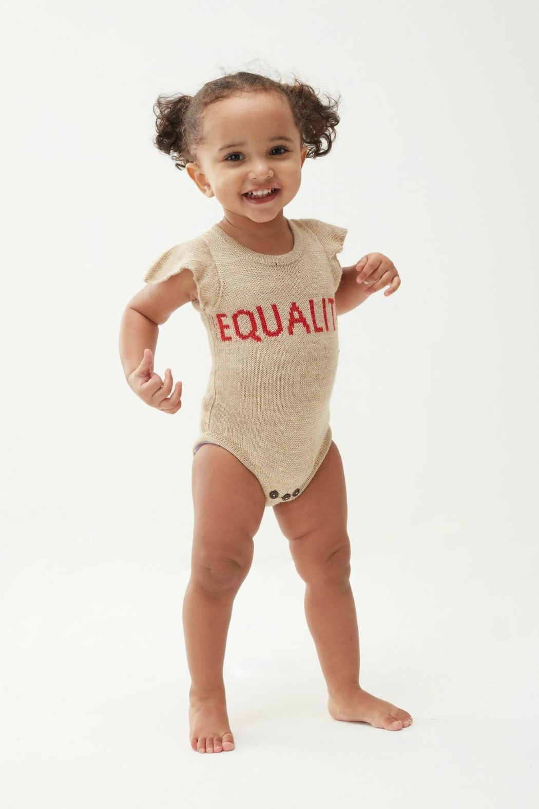 Oeuf Equality Ruffle Onesie - Front Full Image