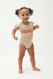 Oeuf Equality Ruffle Onesie - Front full body
