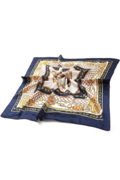 Olive & Pique Equestrian Print Neckerchief - Alternate List Image