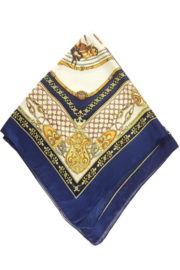 Olive & Pique Equestrian Print Neckerchief - Front full body