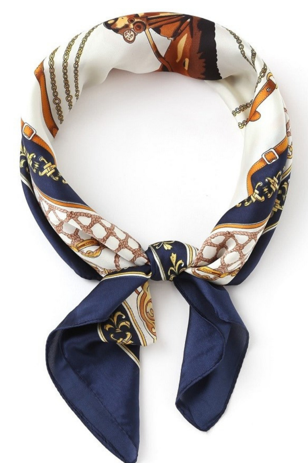Olive & Pique Equestrian Print Neckerchief - Front Cropped Image