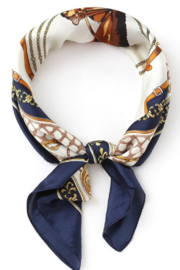 Olive & Pique Equestrian Print Neckerchief - Front cropped