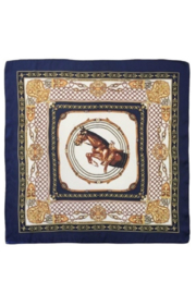 Olive & Pique Equestrian Print Neckerchief - Other