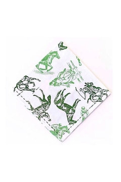 Pomegranate Equestrian Sketch Napkin - Product List Image