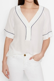 Equipment Atley Silk Shirt - Front full body