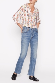 Equipment Floral Silk Shirt - Front full body