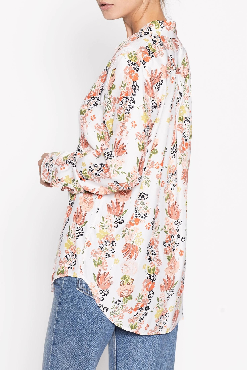 Equipment Floral Silk Shirt - Side Cropped Image