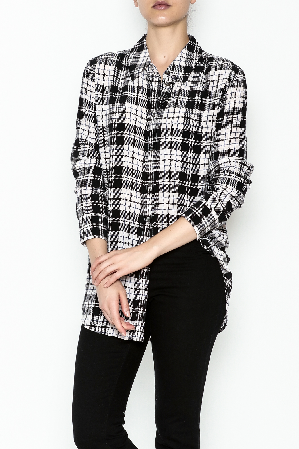 Equipment French Nude Plaid Top - Main Image