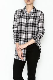 Equipment French Nude Plaid Top - Product Mini Image