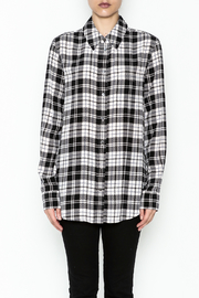 Equipment French Nude Plaid Top - Front full body