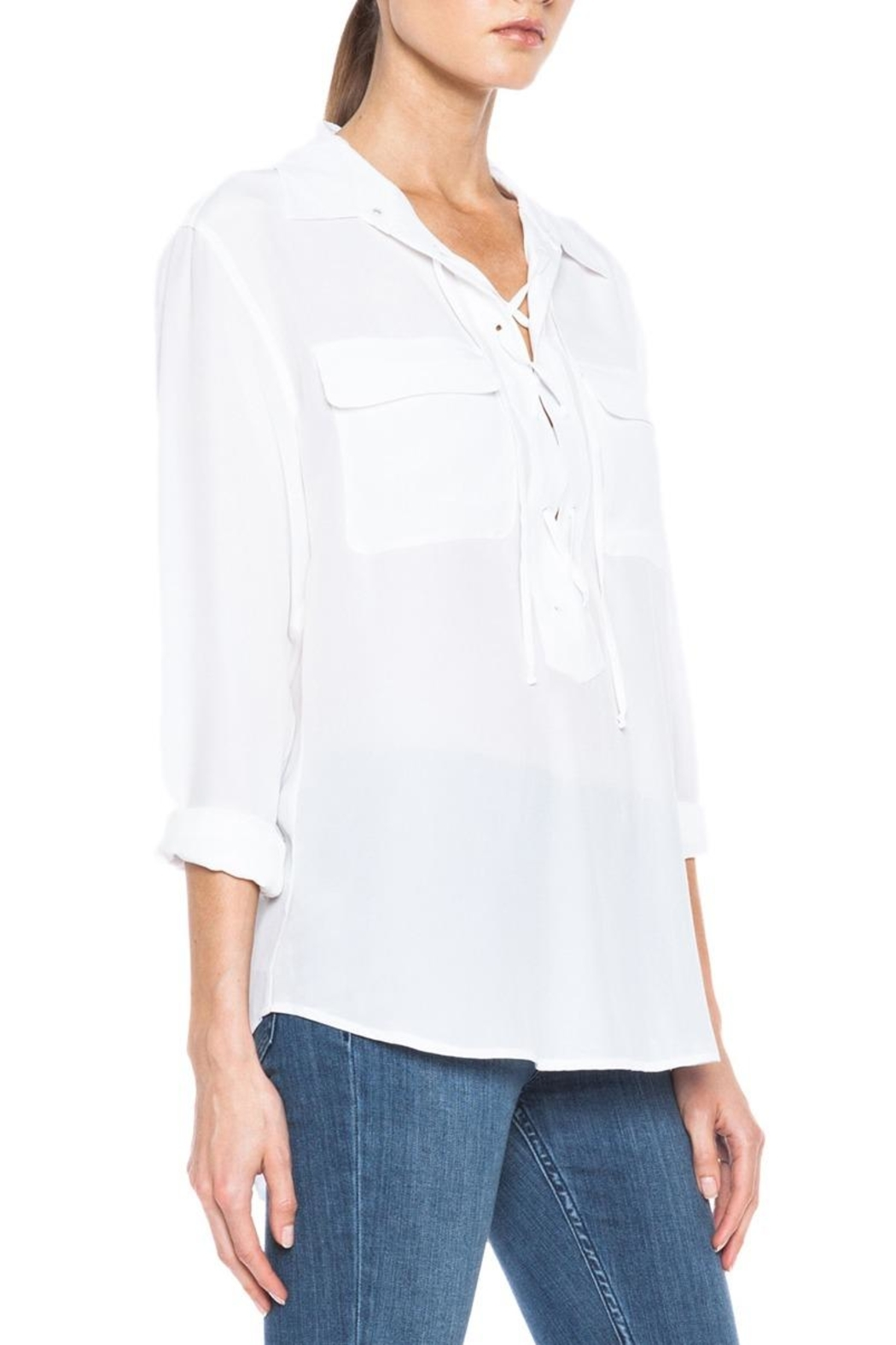 Equipment Knox Blouse - Back Cropped Image