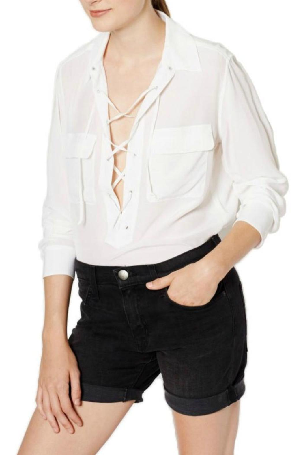 Equipment Knox Silk Top - Front Cropped Image