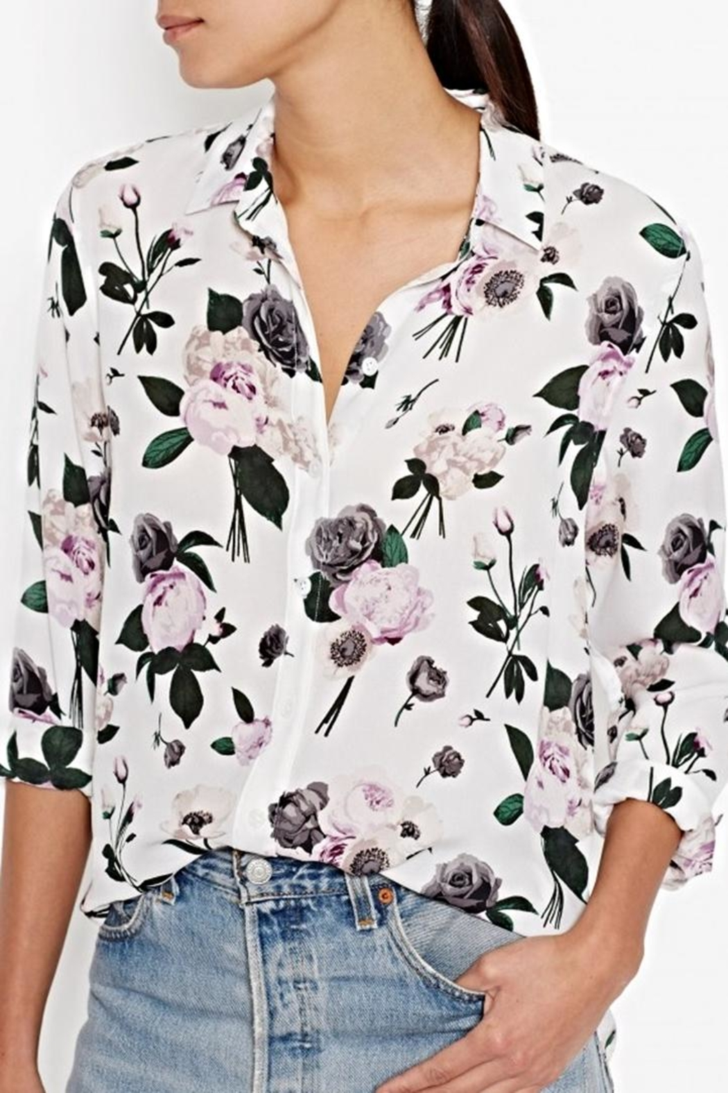 Equipment Leema Silk Shirt - Front Full Image