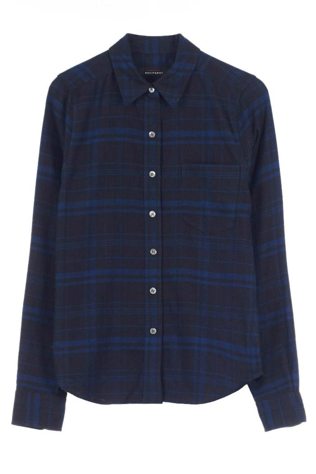 Equipment London Flannel Shirt - Back Cropped Image