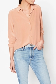 Equipment Rose Silk Shirt - Front cropped