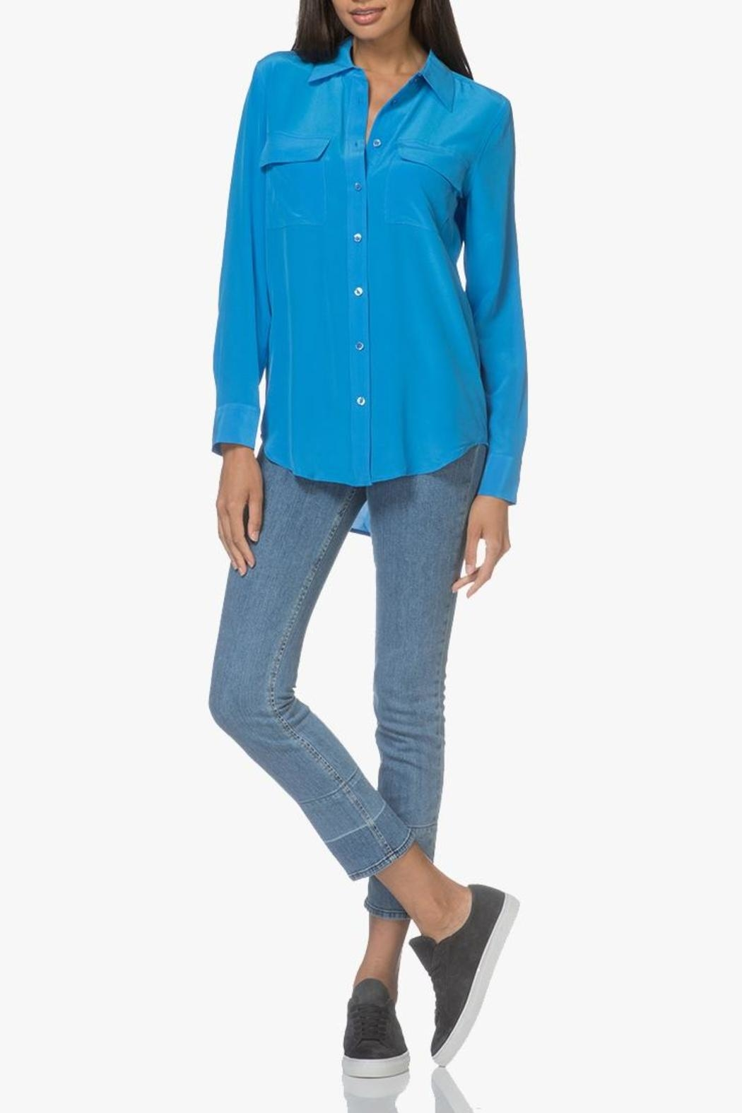 Equipment Signature Klein Blouse - Side Cropped Image