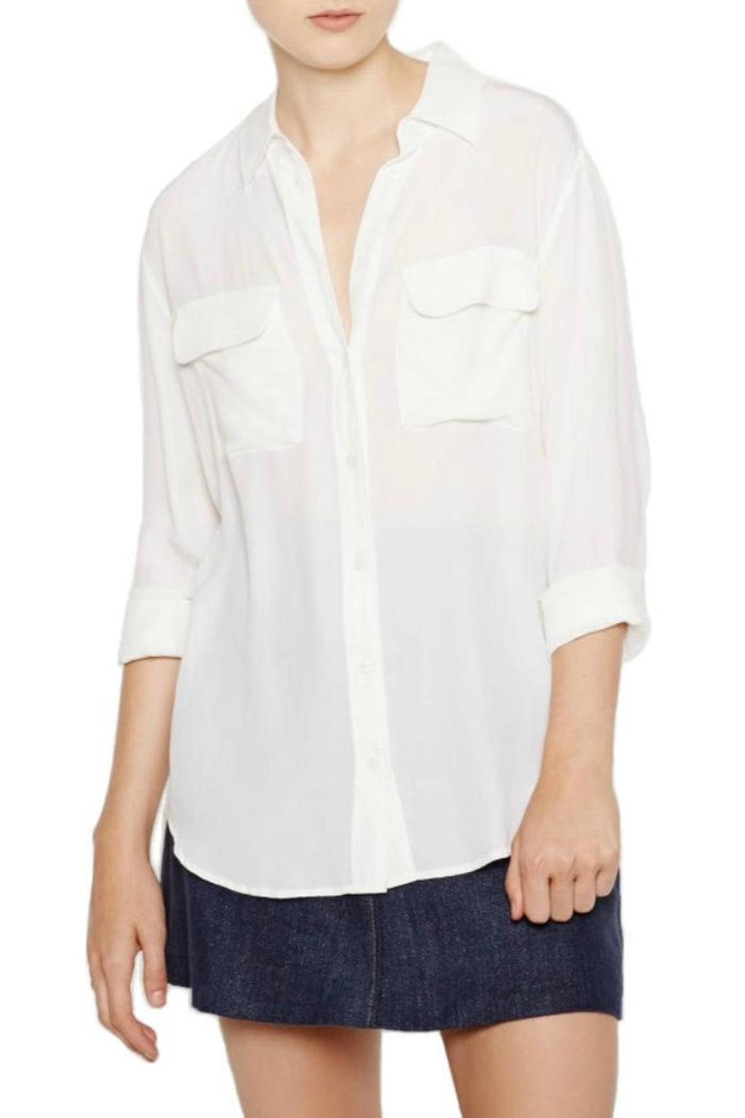 Equipment Signature Silk Blouse - Front Cropped Image