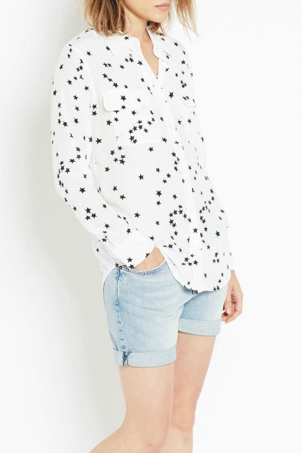 Equipment Slim-Signature Star Top - Front Cropped Image