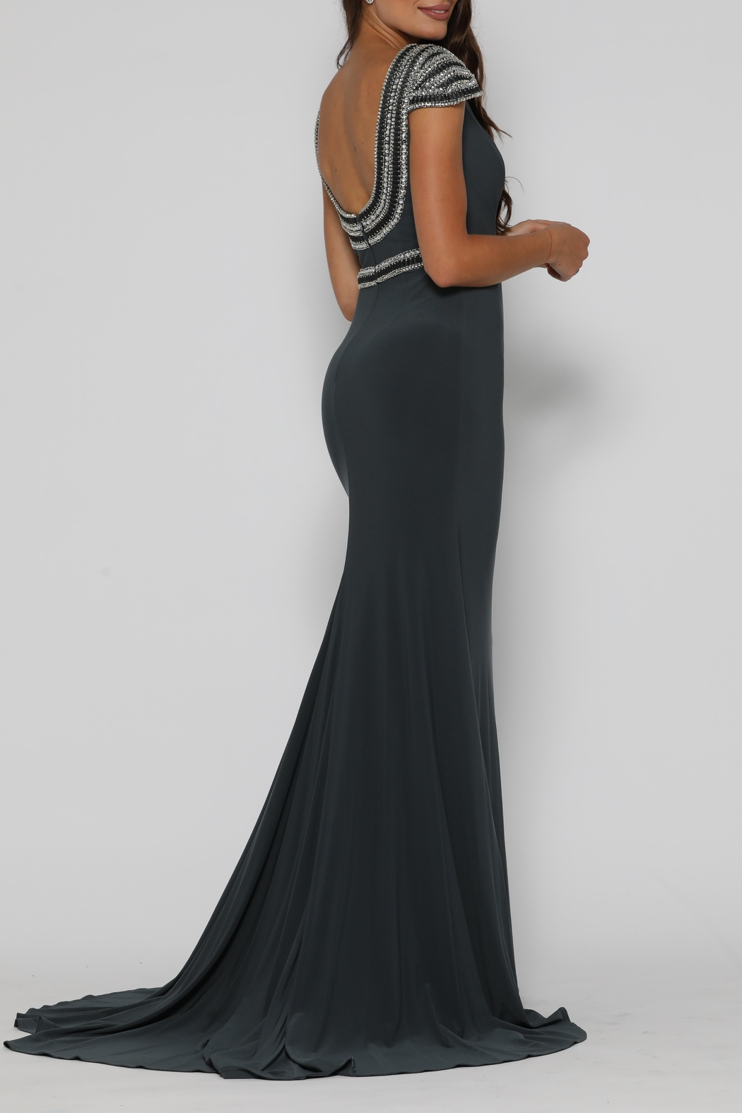 Jadore Eric Dress Gunmetal - Side Cropped Image